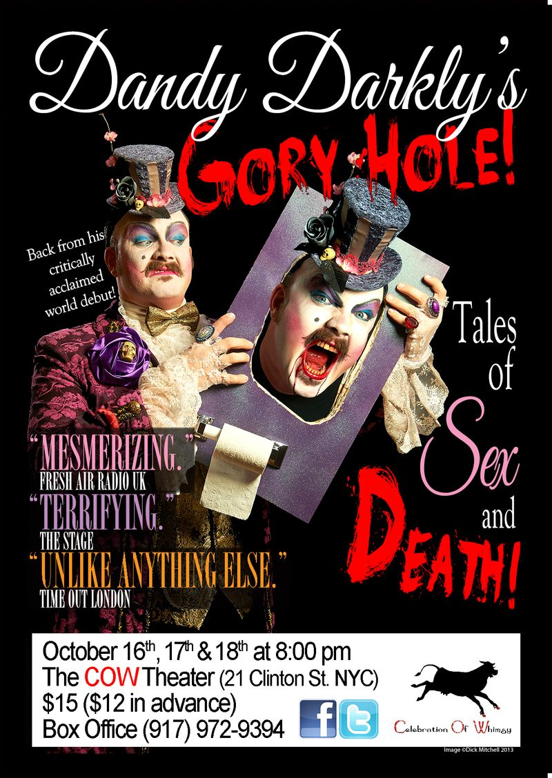 A6-FLYER-FRONT-Dandy-Darklys-Gory-Hole-COW-THEATRE-NYC-WHITE-BOX