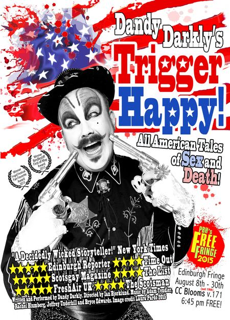 Dandy Darkly Trigger Happy Poster 8x5